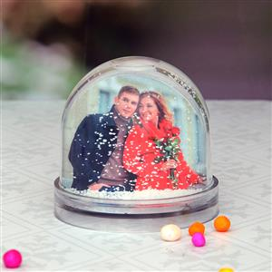 personalized snow globes with picture